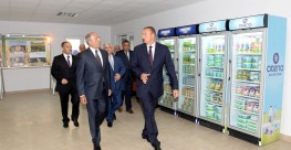 Opening ceremony of Atena dairy plant with Mr. President's participation Atena Milk and dairy produc